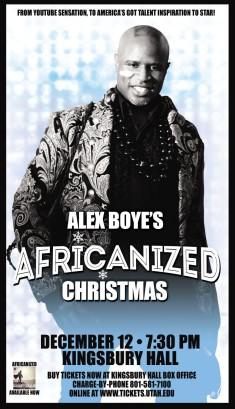 Alex Boye Xmas Flyer.